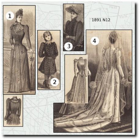 Patrons de La Mode Illustrée 1891 N°12