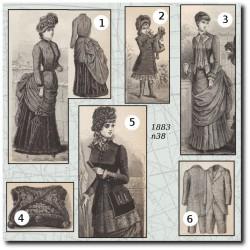Patrons de La Mode Illustrée 1883 N°38