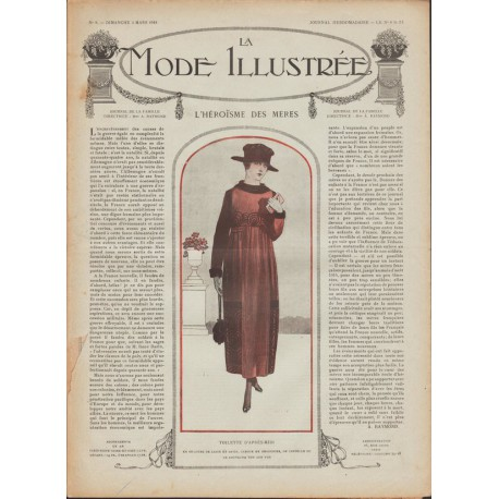Complete magazine La Mode Illustrée 1918 N°09