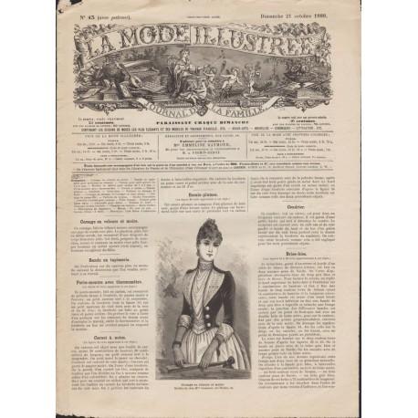 Complete magazine La Mode Illustrée 1888 N°43