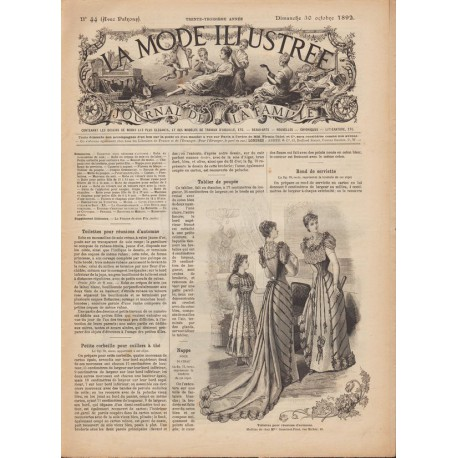 Revue complète de La Mode Illustrée 1892 N°44