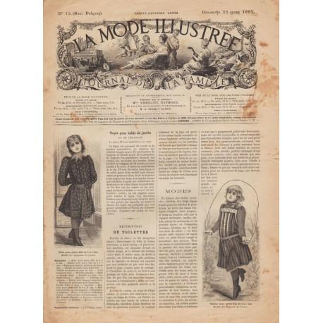 Complete magazine La Mode Illustrée 1891 N°12