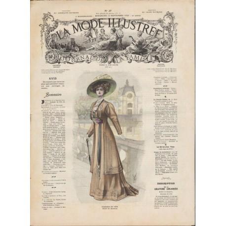 Complete magazine La Mode Illustrée 1908 N°37