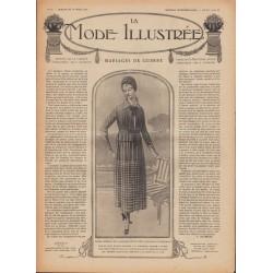 Revue de mode et patrons -robe - toque -1918 N°12