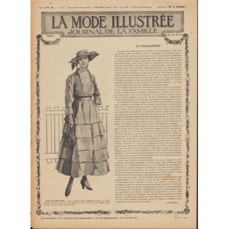 magazine La Mode Illustrée-dresses-ladies- 1916-33