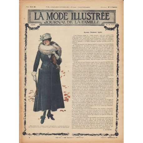 Complete magazine La Mode Illustrée 1916 N°42
