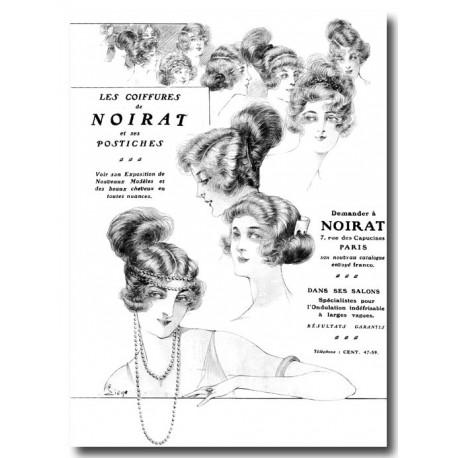 Publicité coiffures Noirat 1921