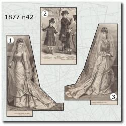 Patrons de La Mode Illustrée 1877 N°42