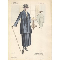 Gravure Journal des Demoiselles du 1er janvier 1918