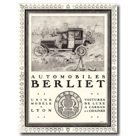 Publicité Car Berliet 1907
