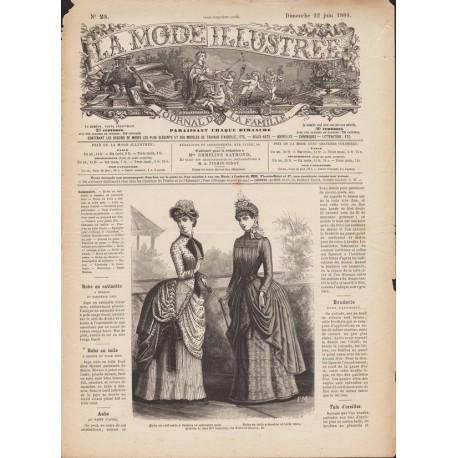 magazine La Mode Illustrée 1884-25