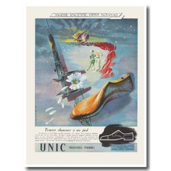 Publicité chaussures Unic 1947