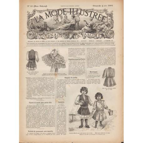 Revue patrons La Mode Illustrée 1893-23 -costume-bain