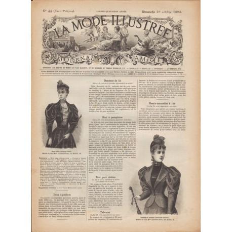 Revue complète de La Mode Illustrée 1893 N°44