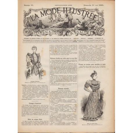 Revue complète de La Mode Illustrée 1893 N°21