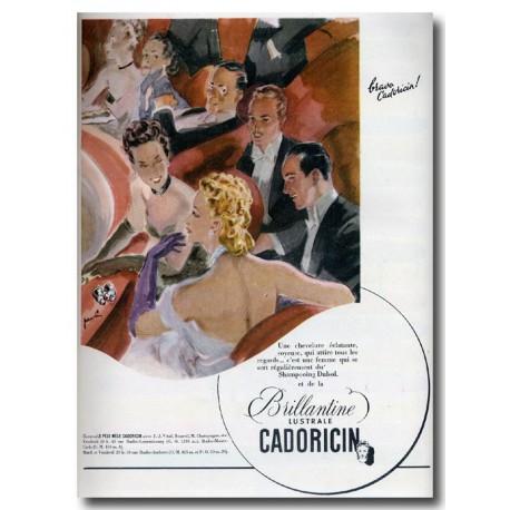 Publicité Brillantine Cadoricin 1921