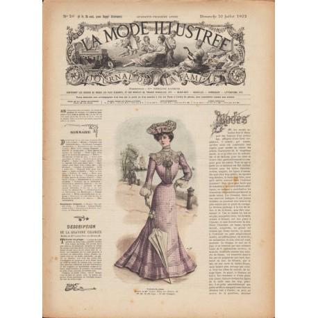 Revue La Mode Illustrée 1902 N°29