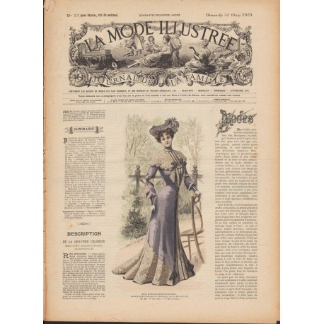 magazine La Mode Illustrée 1902 13