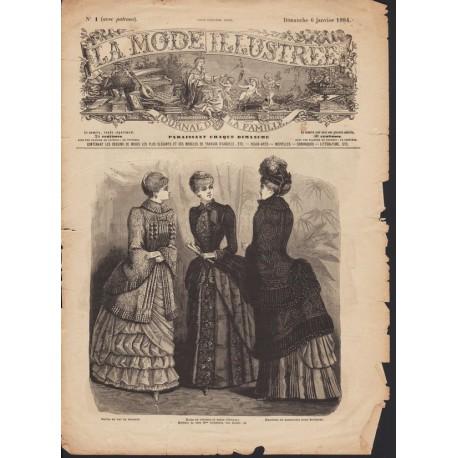 magazine La Mode Illustrée 1884 N°1