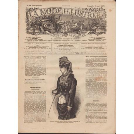 Revue La Mode Illustrée 1879 N°10