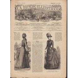 Revue La Mode Illustrée 1884 N°18