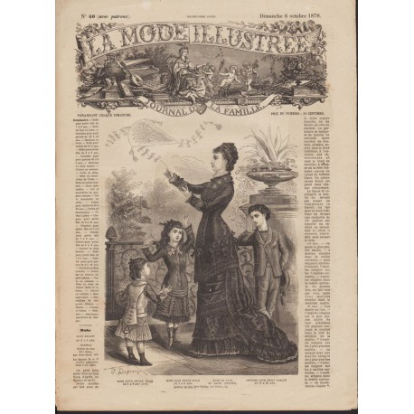 magazine La Mode Illustrée 1878 N°40