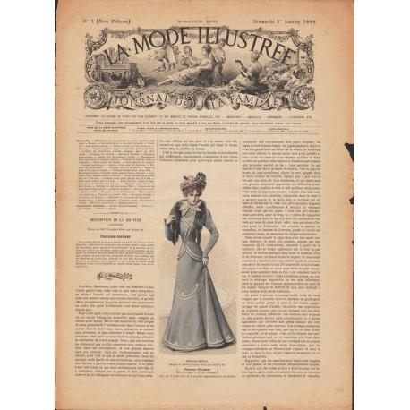 magazine La Mode Illustrée 1899 N°01
