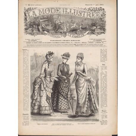 magazine La Mode Illustrée 1884 N°22