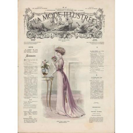 magazine La Mode Illustrée 1908 N°47