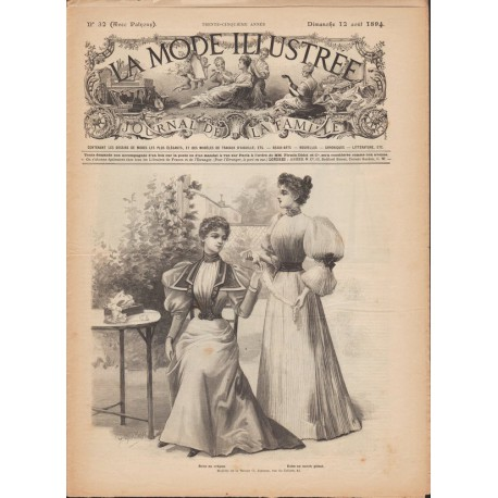 magazine La Mode Illustrée 1894 N°32