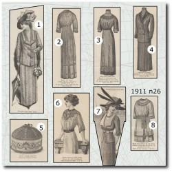 Sewing patterns La Mode Illustrée 1911 N°26