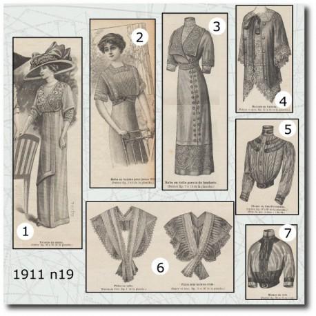 Patrons de La Mode Illustrée 1911 N°19