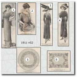 Sewing patterns La Mode Illustrée 1911 N°52