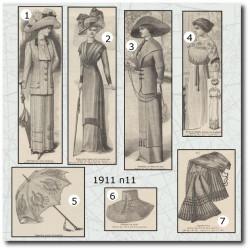 Sewing patterns La Mode Illustrée 1911 N°11