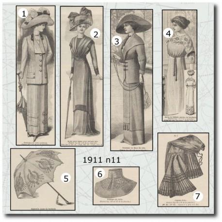 Patrons de La Mode Illustrée 1911 N°11