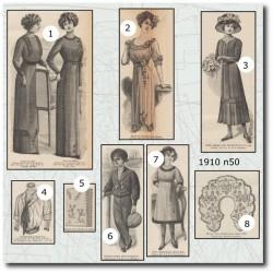 Patrons de La Mode Illustrée 1910 N°50