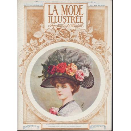 magazine La Mode Illustrée 1910 N°16