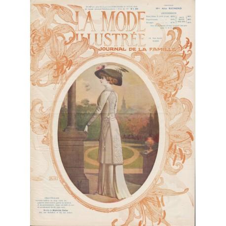 magazine La Mode Illustrée 1910 N°17