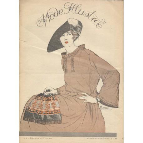 Revue La Mode Illustrée 1921 N°02