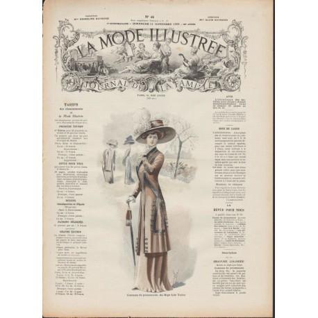magazine La Mode Illustrée 1909 N°46