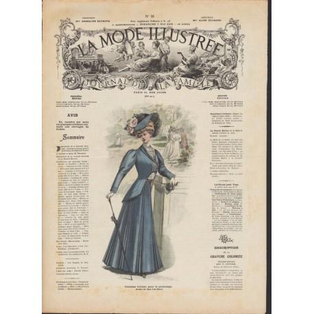 magazine La Mode Illustrée 1908 N°18