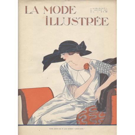 magazine La Mode Illustrée 1923 N°01