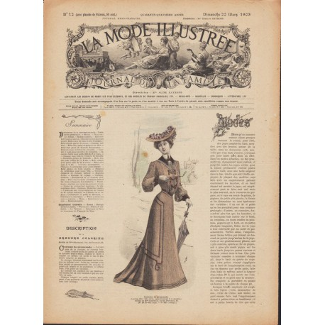 magazine La Mode Illustrée 1903 N°12