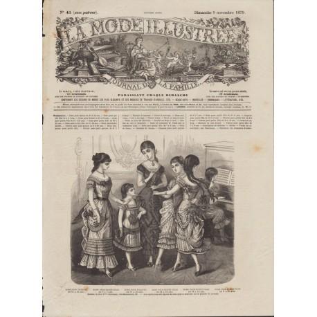 magazine La Mode Illustrée 1879 N°45