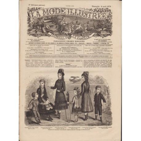 Complete magazine La Mode Illustrée 1879 N°14