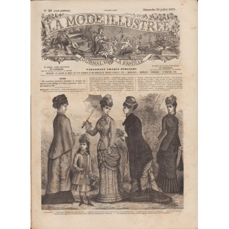 Revue complète de La Mode Illustrée 1879 N°29