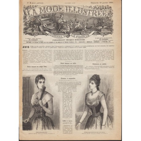 Revue complète de La Mode Illustrée 1889 N°3