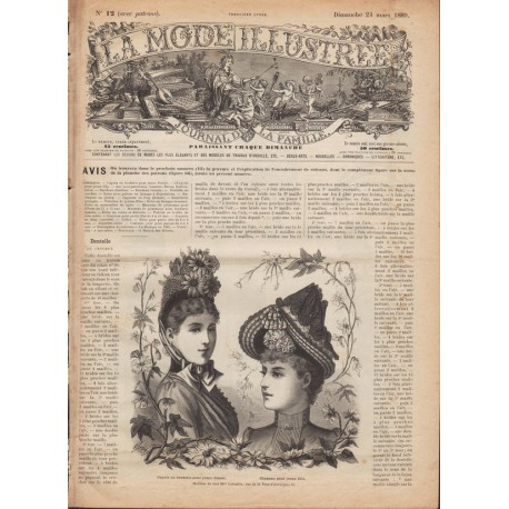 Complete magazine La Mode Illustrée 1889 N°12