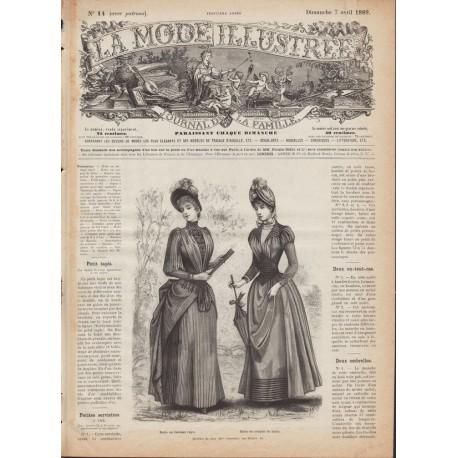 Complete magazine La Mode Illustrée 1889 N°14
