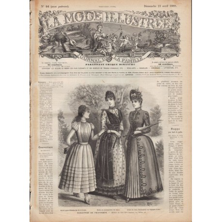 Complete magazine La Mode Illustrée 1889 N°16